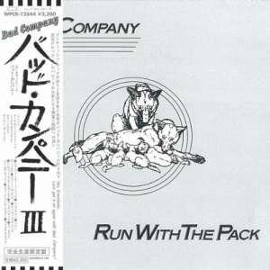 BAD COMPANY - Run With The.. -jap Card-